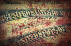 Blood money, US Dollars Stock Images
