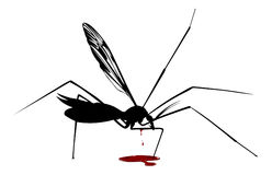 Blood mosquito. In  style Royalty Free Stock Image