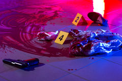 Blood at the murder scene Royalty Free Stock Photos