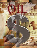 Blood & Oil. Oil, blood and money stock illustration