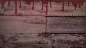 Blood on old wall