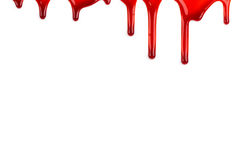 Blood ooze. On white background Stock Image