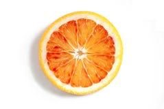 Blood orange. Fresh blood orange slice on a neutral background Stock Photography