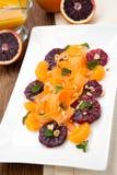 Blood Orange - Carrot Salad Royalty Free Stock Photo
