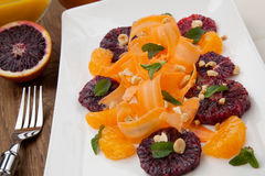 Blood Orange - Carrot Salad Royalty Free Stock Images