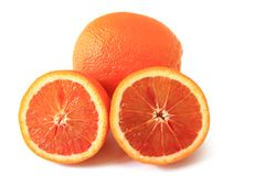 Blood Orange (Citrus x sinensis) Royalty Free Stock Images