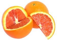 Blood orange cut isolated. On a white background Stock Image