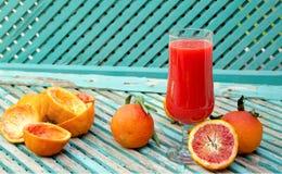 Blood orange fresh juice Stock Photos