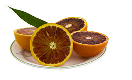 Blood Orange Halves Royalty Free Stock Photography