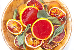 Blood orange jelly. A lovely deep red jelly made with blood oranges stock images