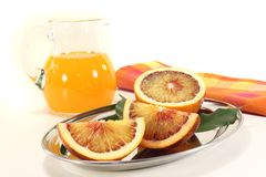 Blood orange with juice Royalty Free Stock Photo