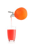 Blood orange juice. Royalty Free Stock Image