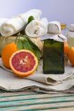Blood orange oil Stock Image