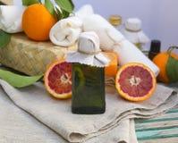 Blood orange oil Royalty Free Stock Images