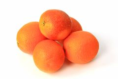 Blood Orange. S (Citrus x sinensis), isolated against white background Stock Photography