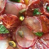 Blood orange and radish salad stock photo