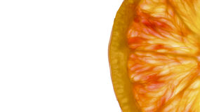 Blood orange slice Stock Image