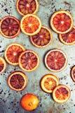 Blood Orange Slices on Metal Background Royalty Free Stock Image