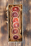 Blood orange spelt cake. Healthy and delicious spelt cake with blood oranges Royalty Free Stock Images