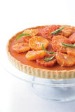 Blood orange tart Stock Image