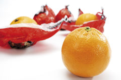 Blood orange in wrapping paper Royalty Free Stock Image