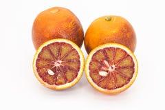 Blood Oranges. Fresh blood oranges on a white background Royalty Free Stock Photo