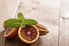 Blood oranges with fresh mint Royalty Free Stock Photography