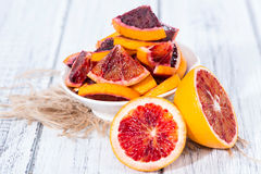Blood Oranges on wood Stock Photos
