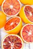 Blood Oranges on wood Stock Image