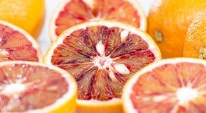 Blood Oranges on wood Royalty Free Stock Photo