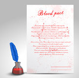 Blood pact Stock Photo