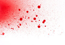 Blood (paint) spatters, splashes and sprays royalty free stock photo
