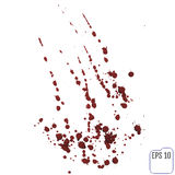 Blood or paint splatters. Vector different blood splashes, drops Stock Photography