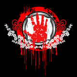 Blood Palm Hand Symbol. Royalty Free Stock Image