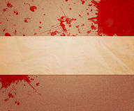 Blood on Paper Stock Photo