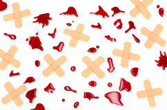 Blood and plaster Stock Images
