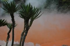 Blood pond hell -  colored hot spring Stock Image