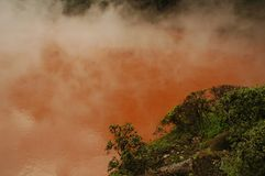 Blood pond hell -  colored hot spring Royalty Free Stock Photography