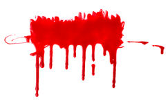 Blood pouring Stock Image