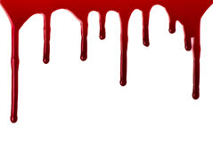 Blood pouring Stock Photography
