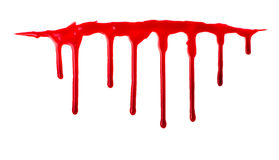Blood pouring Stock Images