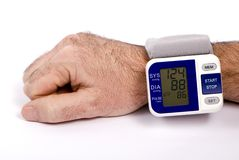 Blood Pressure. Taking your blood pressure. Too much ice cream and not enough exercise Stock Photography
