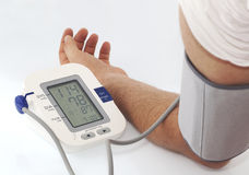 Blood pressure. Electronic control of Blood pressure Stock Images