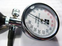 Blood pressure. Meter close up Stock Images