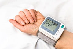 Blood pressure. Process of blood pressure examination Stock Photo