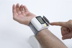 Blood Pressure. Checking Blood Pressure Royalty Free Stock Image