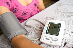 Blood pressure checking Royalty Free Stock Image