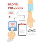 Blood pressure checking. royalty free illustration