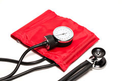 Blood pressure cuff, close-up  Royalty Free Stock Images