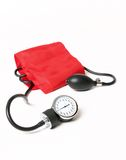 Blood pressure cuff and gauge Royalty Free Stock Images